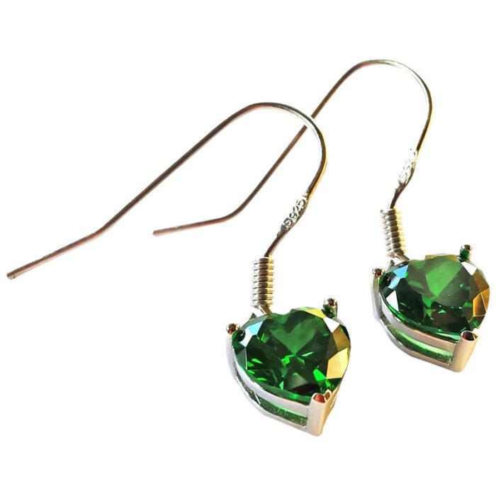 Emerald Heart Light Drop Earrings